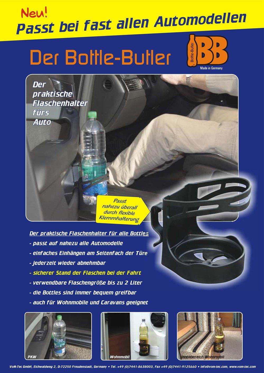 Vom-Tec GmbH Porte-gobelet 2ltr Butler Porte-Bouteille pour Voiture Bateau Caravane