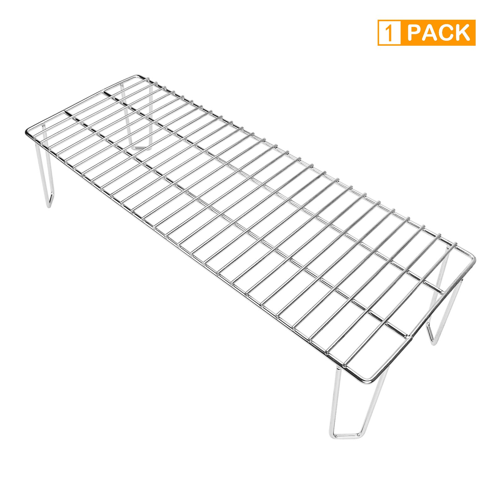 Grisun 6008 Stainless Steel Upper Rack, Warming Rack for Green Mountain Grills Rack Accessories Daniel Boone Pellet Grill Grate (22 x 8 x 4.7 Inches) by Grisun