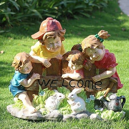 Sculptures et statues de jardin Couple Vélo Poupée Figurine ...