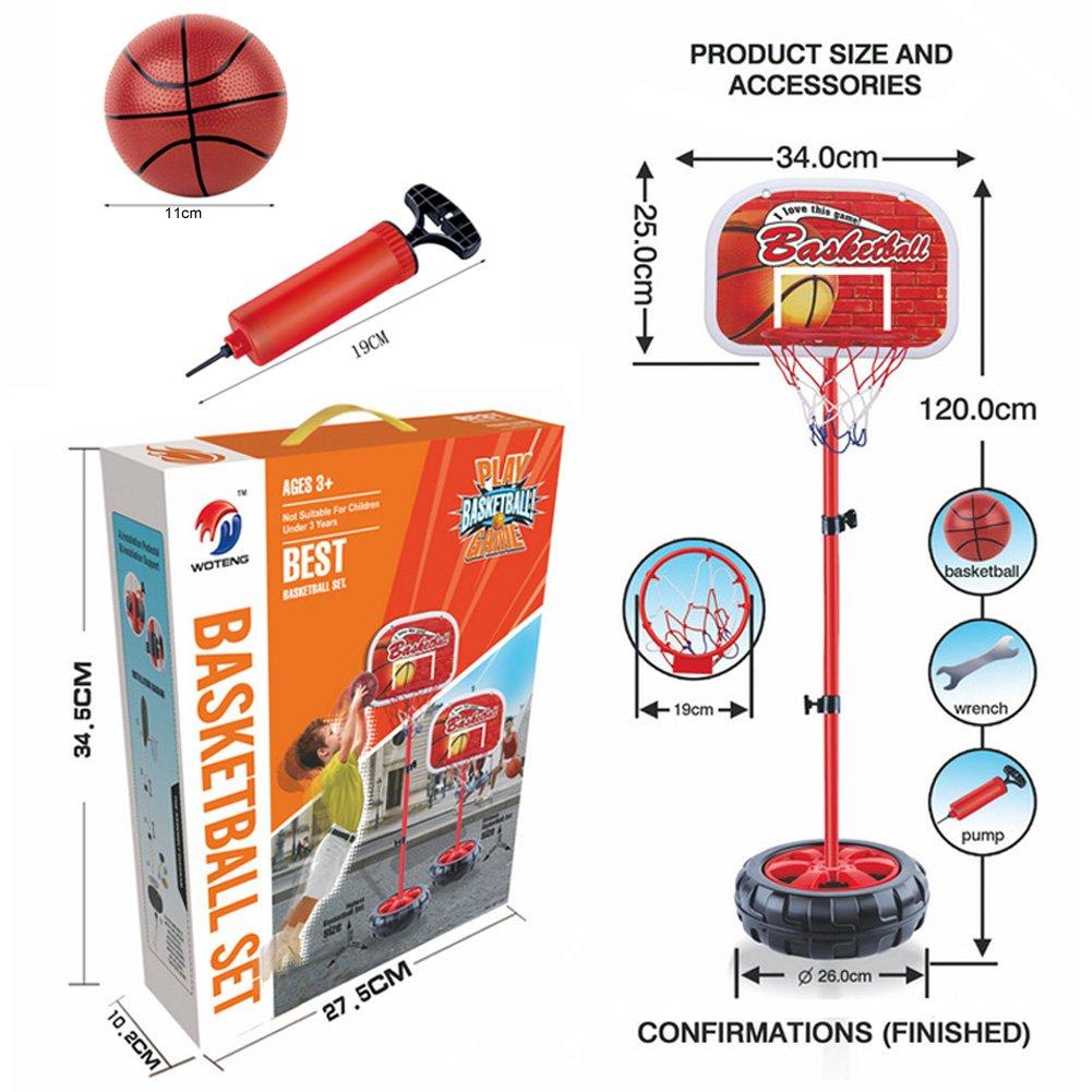 Ajustable Baloncesto Conjunto de Juguete Tubos Aro Pelotas Aire ...