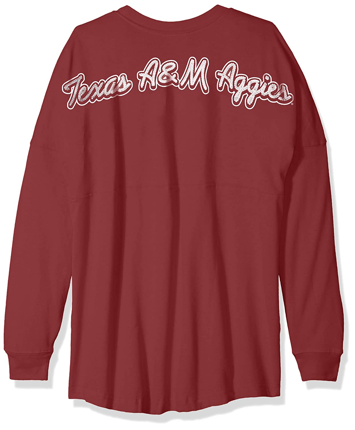 NCAA Texas A/&M Aggies Womens NCAA Womens Long Sleeve Mascot Style Teeknights Apparel NCAA Womens Long Sleeve Mascot Style Tee Large Maroon