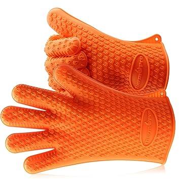 thermopro tp guantes de silicona para cocina horno barbacoa y microondas manoplas para horno resistentes