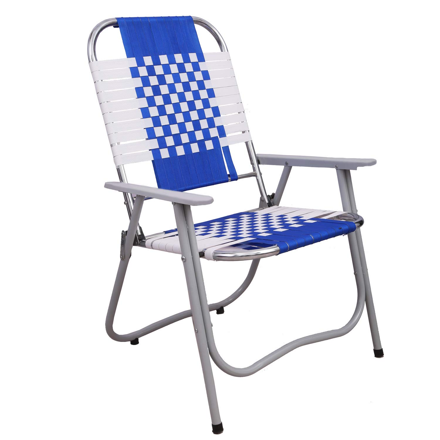 South Whales Portable Folding Chair With Arm Rest Stainless Steel Set Of 1 Blue Amazon In Home Kitchen