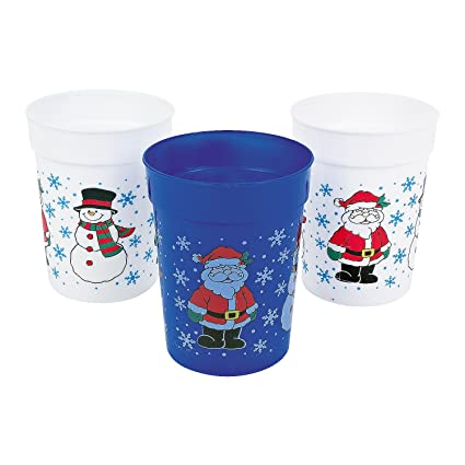 One Dozen Plastic Holiday Cups/CHRISTMAS Cups/Christmas Tableware and Party Supplies  sc 1 st  Amazon.com & Amazon.com: One Dozen Plastic Holiday Cups/CHRISTMAS Cups/Christmas ...
