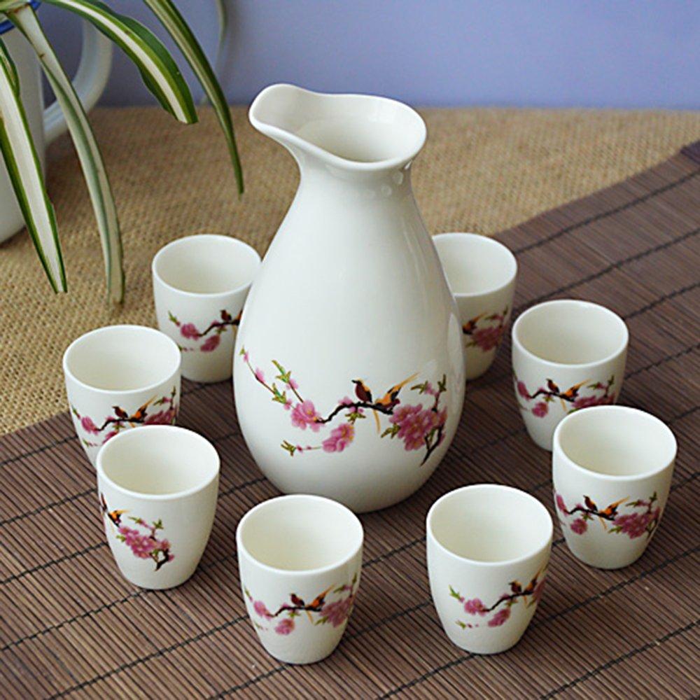 杨玉莹色�_銮瓷 陶瓷酒具套装 白酒杯烈酒杯 龙泉青瓷企鹅酒具小