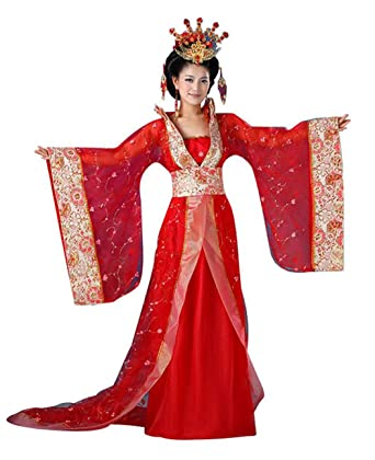 cb08dd2ec7 Amazon.com: springcos Chinese Princess Costume Women Fancy Dress Trailing  Halloween Cosplay: Clothing