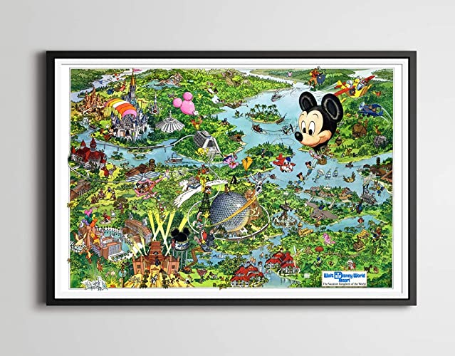 Amazon.com: Vintage 1990 DISNEY WORLD Resort Map Poster! (24 ... on map of downtown disney, map of disney's coronado springs resort, map of magic kingdom, map of rivers of the world, disney port orleans resort, map of disney's boardwalk resort, map of florida resort, map of disney movies, map of disney property resorts, map of bimini bay resort, map of maui resort, map of ft wilderness resort, map of disney tickets, map of disney hotels, map of disney parks, map of disney land, map of seven springs resort, map of disney's hollywood studios, map of walt disney, map of disney's polynesian resort,
