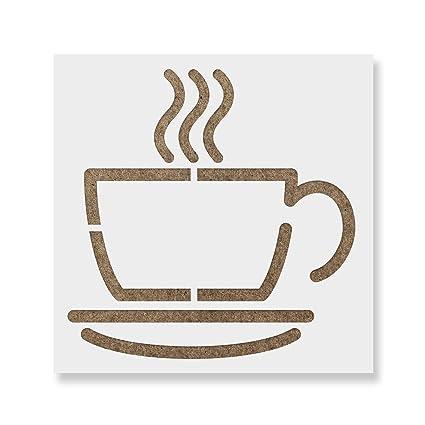 Taza de café plantilla para paredes y manualidades - Plantilla ...