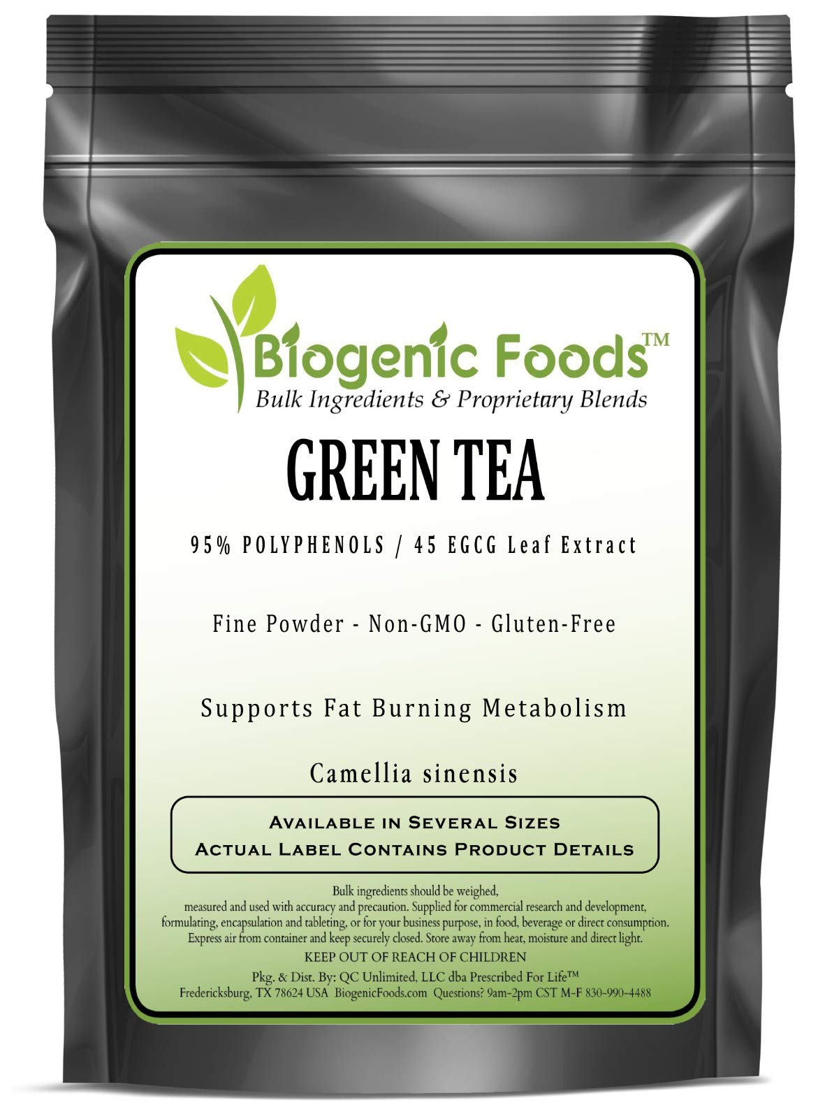 Green Tea - 95% POLYPHENOLS / 45 EGCG Leaf Fine Powder Extract (Camellia sinensis), 1 kg