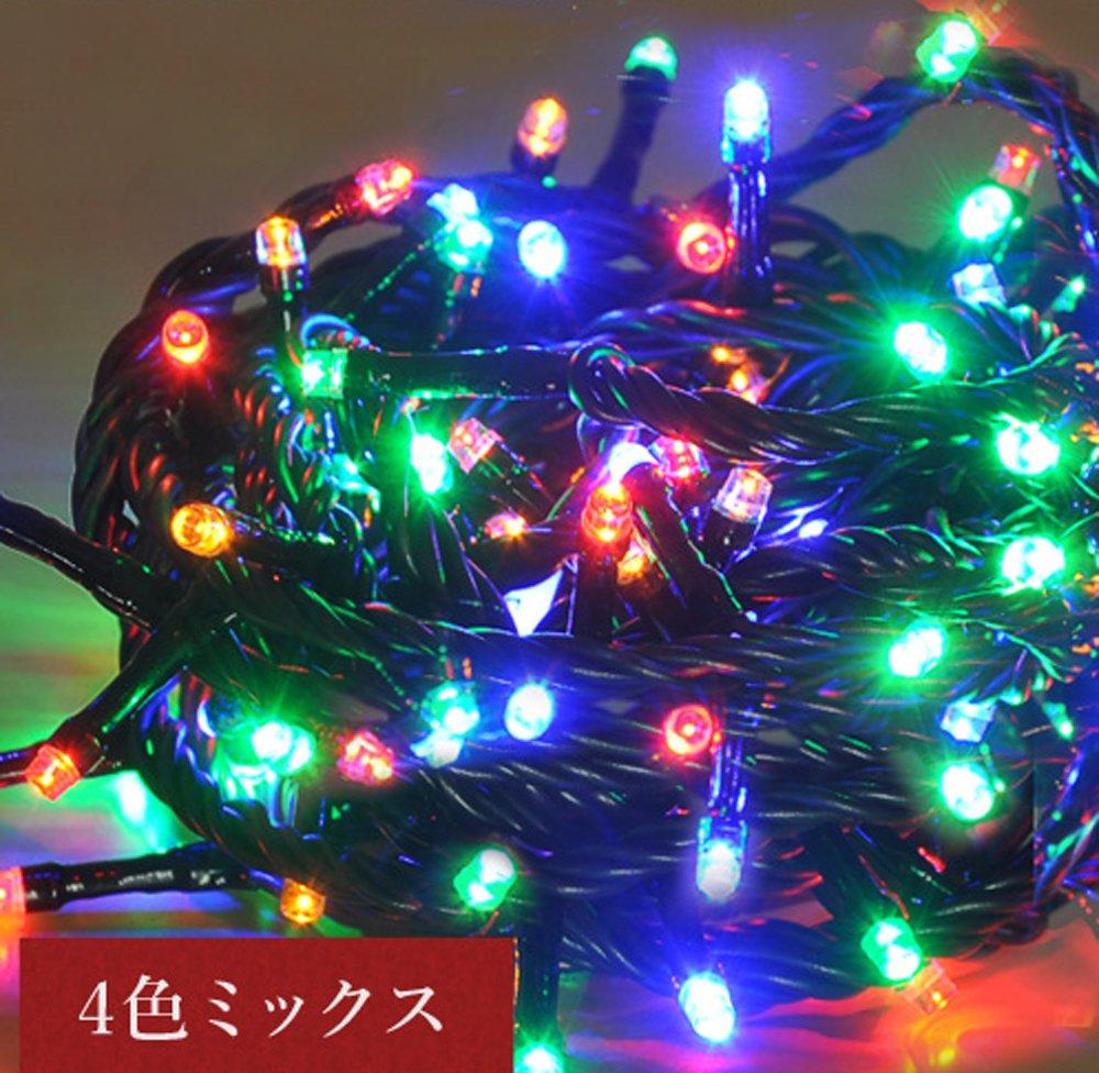 iimono117 高輝度 LED イルミネーション リモコン付き [ 6m 100球 ~ 120m 2000球 まで 連結可能 ] 防水 防滴型 IP44 (60m(1000球), 4色ミックス) B076KBZ2MJ 10800  4色ミックス 60m(1000球)