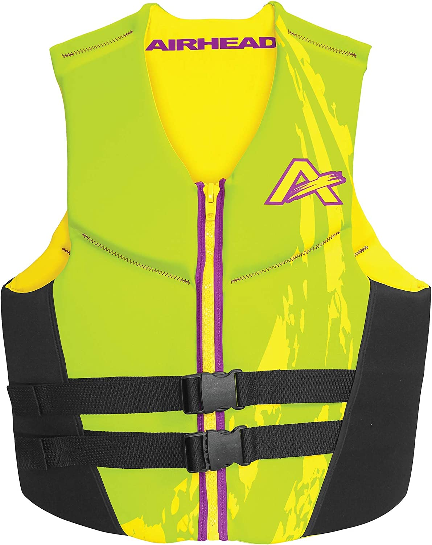Airhead Adult SWOOSH Kwik-Dry Neolite Flex Life Vest Green, X-Small