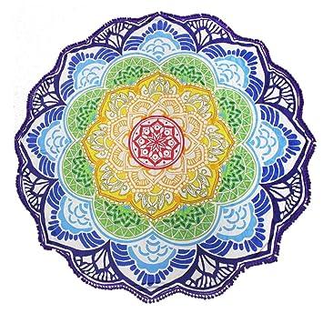 Amazon.com: Mandala indio redondo, tapicería redonda ...
