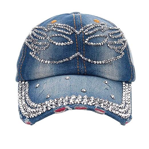 Watopi - Gorra de béisbol con Cristales de imitación para Mujer y ...