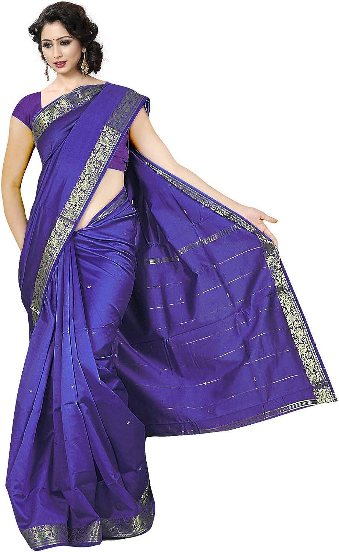KoC Indian Traditional Banarasi Art Silk Saree Sari for Women wear Fabric Dress