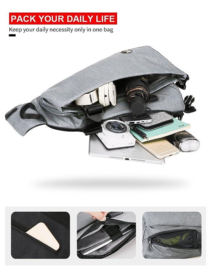 Mochila de Hombro Markryden® Mochila de Hombro Bolso Bandolera Impermeable Anti-Robo Casual Rucksack de Carga USB Bolso Bandolera Deportivo Bolsa Sling ...