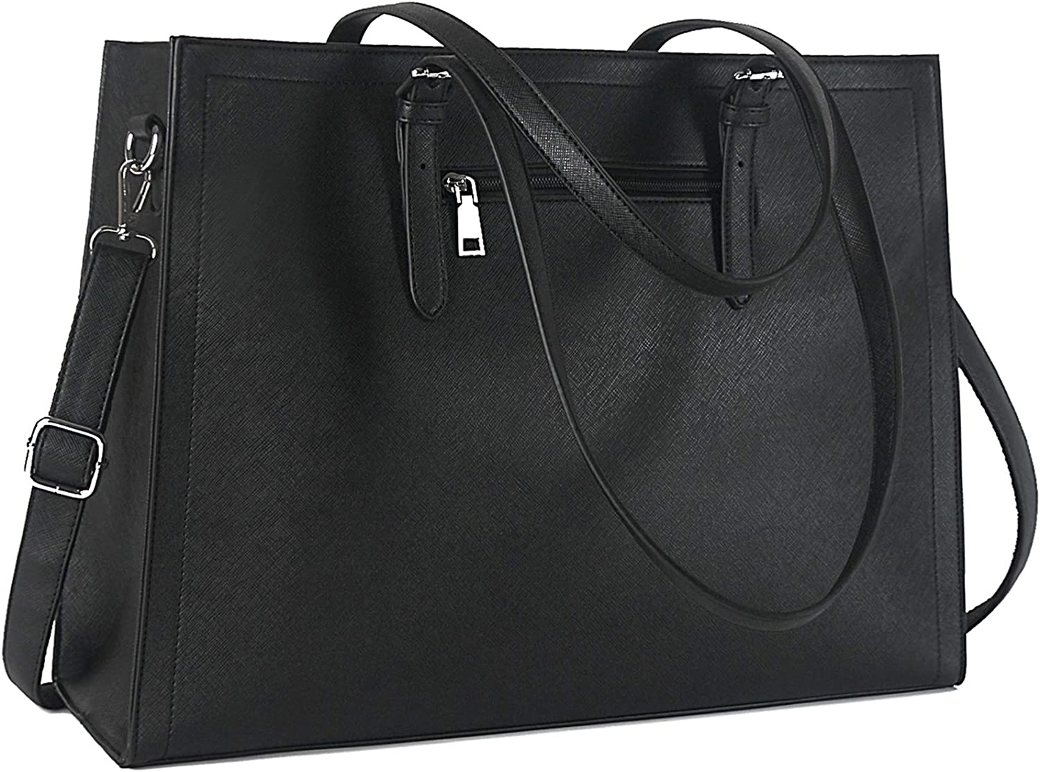 Laptop Bag for Women 15.6 Inch Classy Leather Computer Bag Office Work Tote Bag