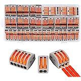 Compact Wire Connectors, Aigreat 100pcs Compact Splicing Connectors, Lever Nut Assortment Conductor, Electrical Connectors Bl