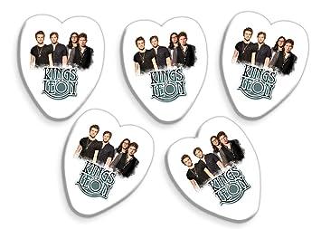Kings Of Leon 5 x Púas para guitarra de corazón banda Logo Púas: Amazon.es: Instrumentos musicales