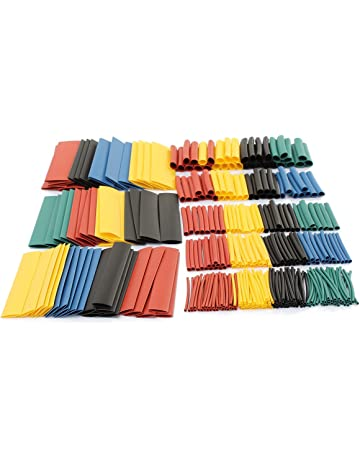 Besay 164pcs Set Polyolefin Shrinking Assorted Heat Shrink Tube Wire Cable Insulated Sleeving Tubing Set