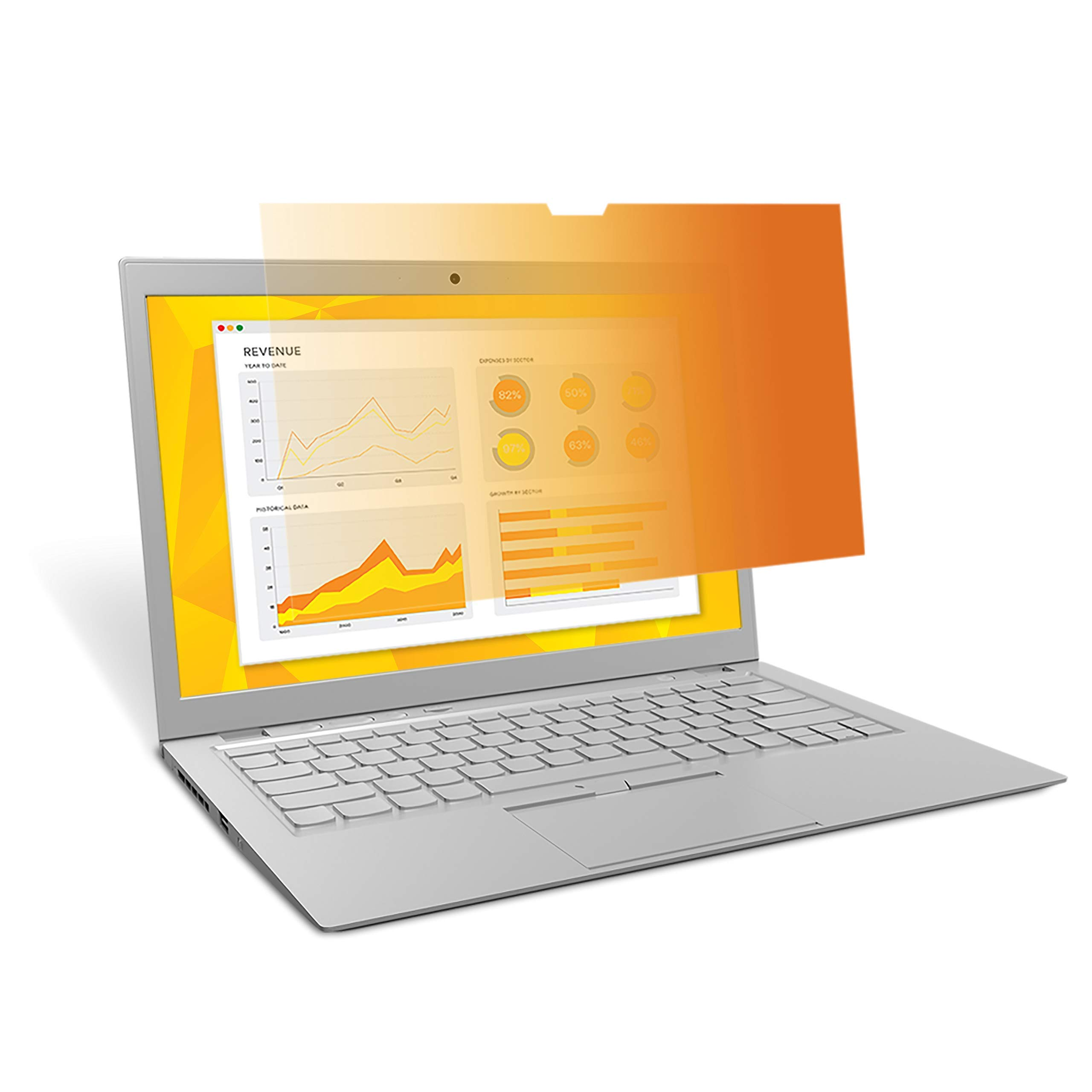 3M Privacy Filter for 14'' Laptop - Gold - Works for Lenovo X1 Carbon - Widescreen 16:9 - GF140W9B (Renewed)