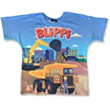 Blippi Official Child Construction T-Shirt for Kids Size YXS Youth Extra Small