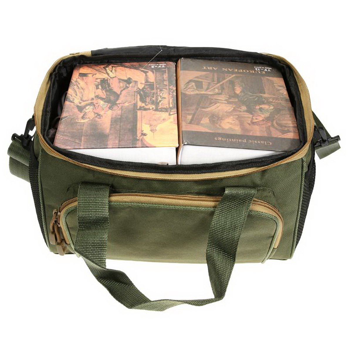 Ure Green Army Fishing Multi-Functional Outdoor Waist Shoulder Fishing Storage Bag