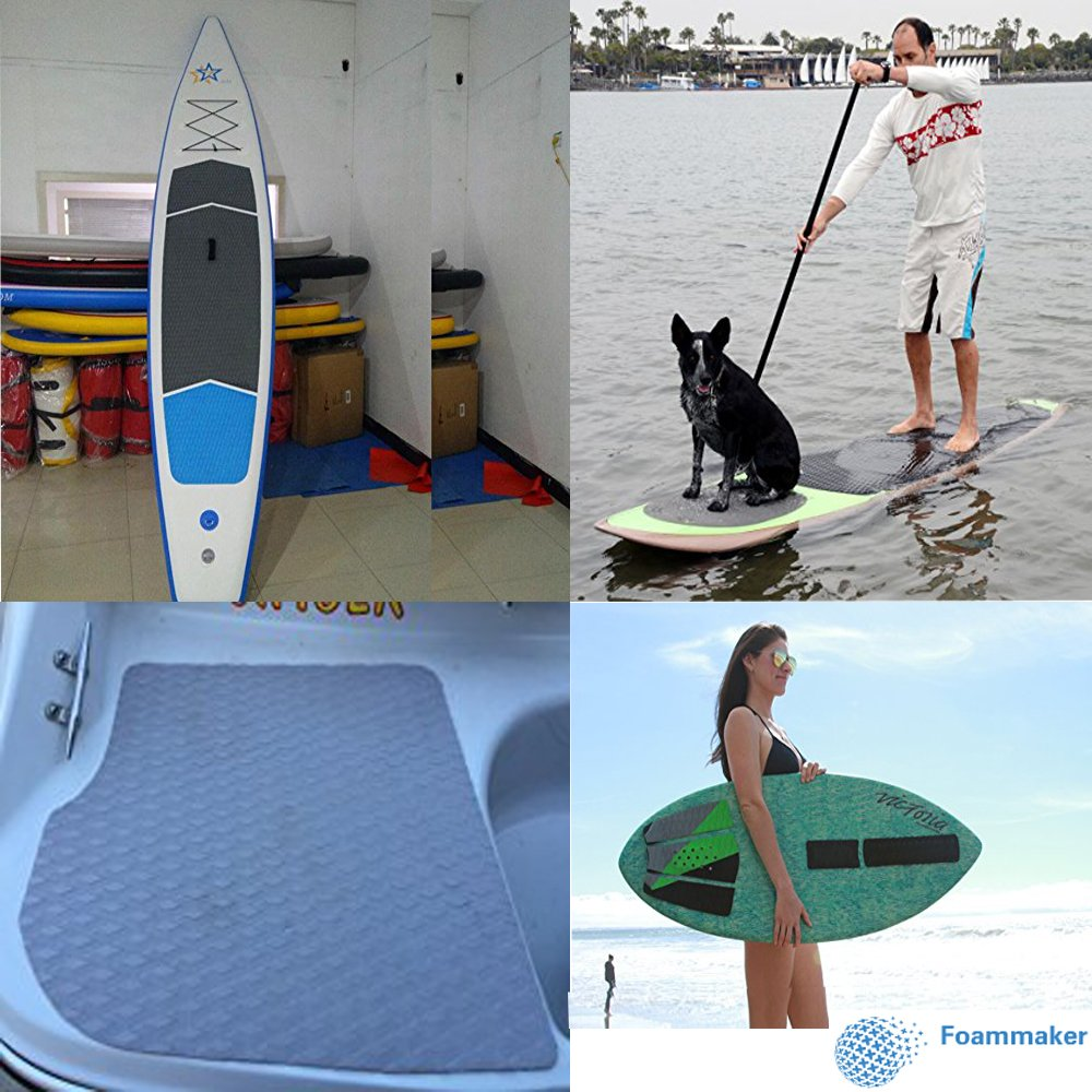 4x EVA Dog Traction Pad Deck Grip Mat for SUP Surfboard Stand Up Paddleboard
