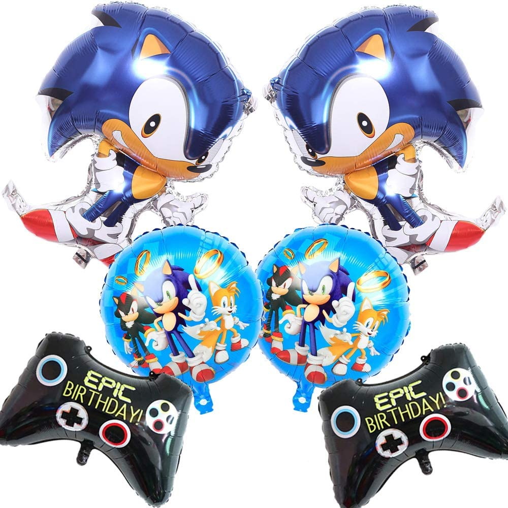 Amazon Com The Hedgehog Foil Balloons Birthday Party Supplies Decorations For Kids 6pcs Toys Games