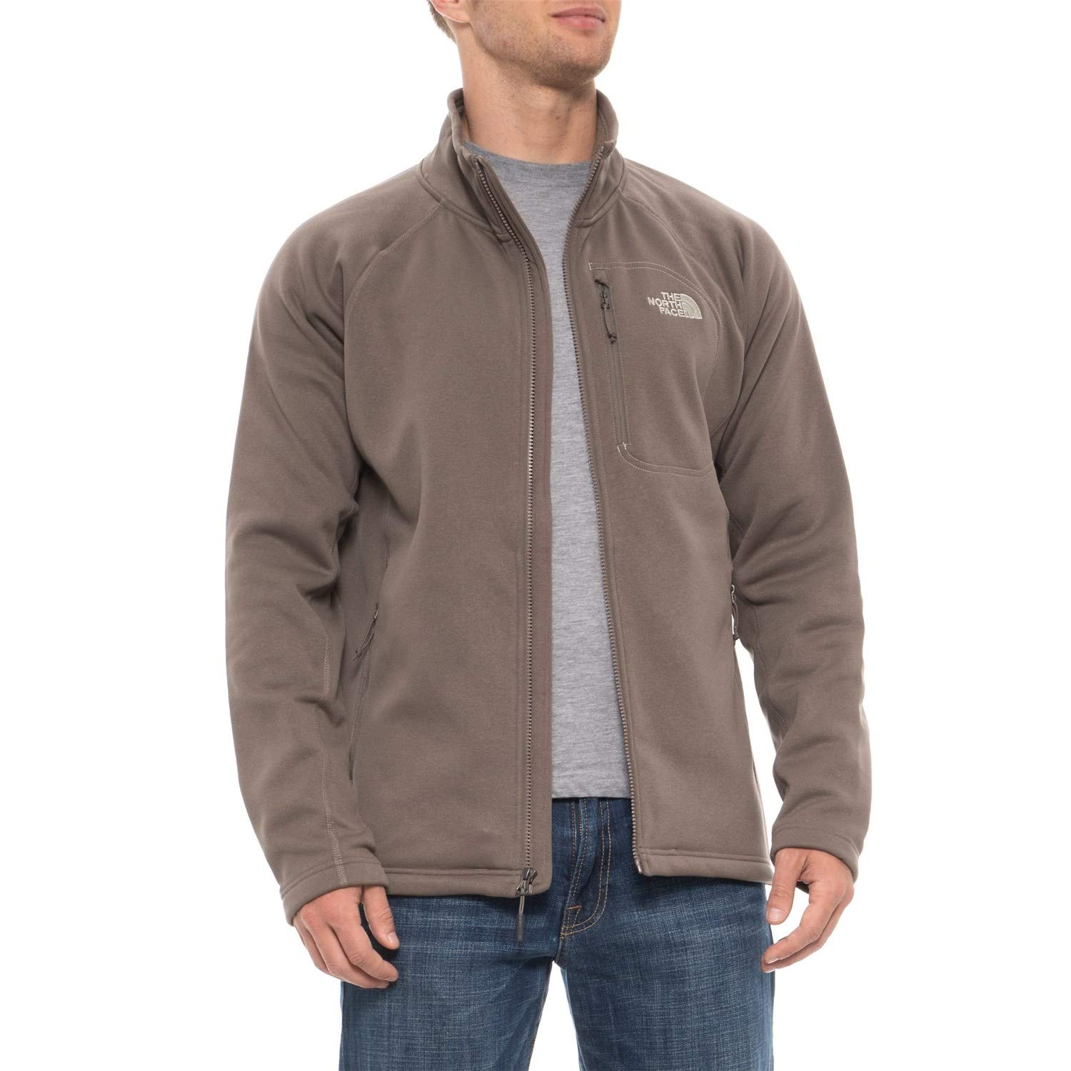 4bf9b122e The North Face Men's Timber Full Zip Fleece Jacket Falcon Brown, Large