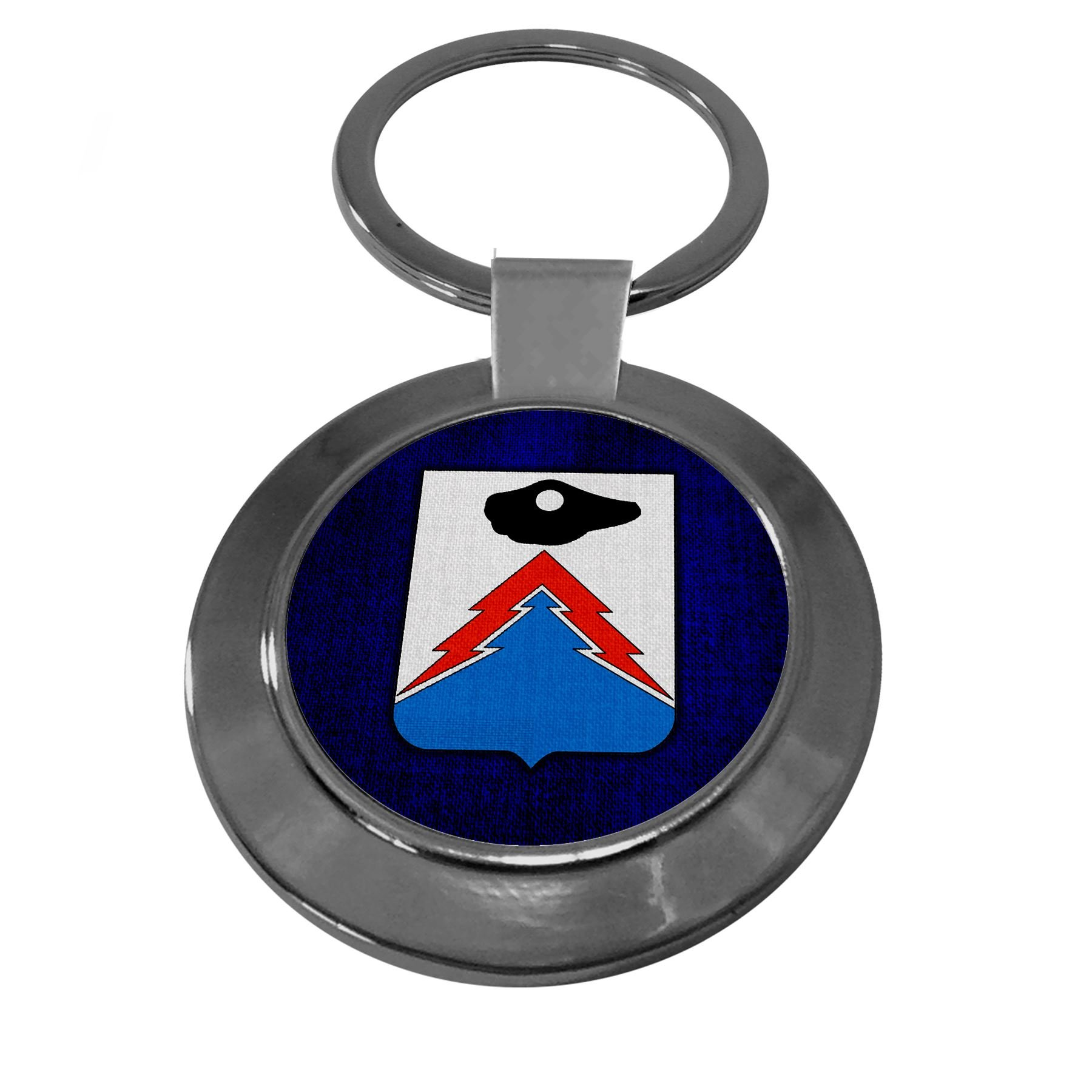 Premium Key Ring with U.S. Army 24th Signal Battalion, coat of arms