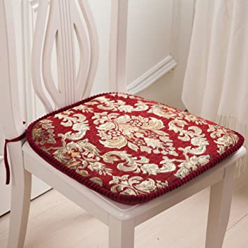 Amazon.com: Chenille dining chair cushion/Table cushion thickening ...