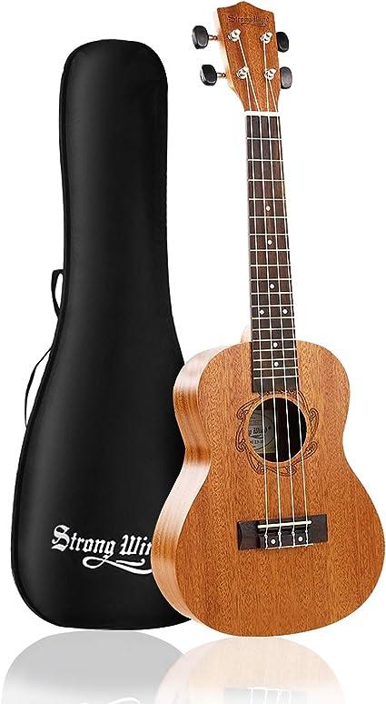 Amazon.com: Strong Wind Concert Ukulele, Mahogany 23 Inch Ukeleles for  Beginners, Adult Uke Hawaiian Starter Ukalalee With Gig Bag: Musical  Instruments