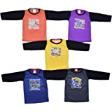 5 Full Sleeve Cotton Tshirts for Baby Boys and Girls 6 Months to All Ages