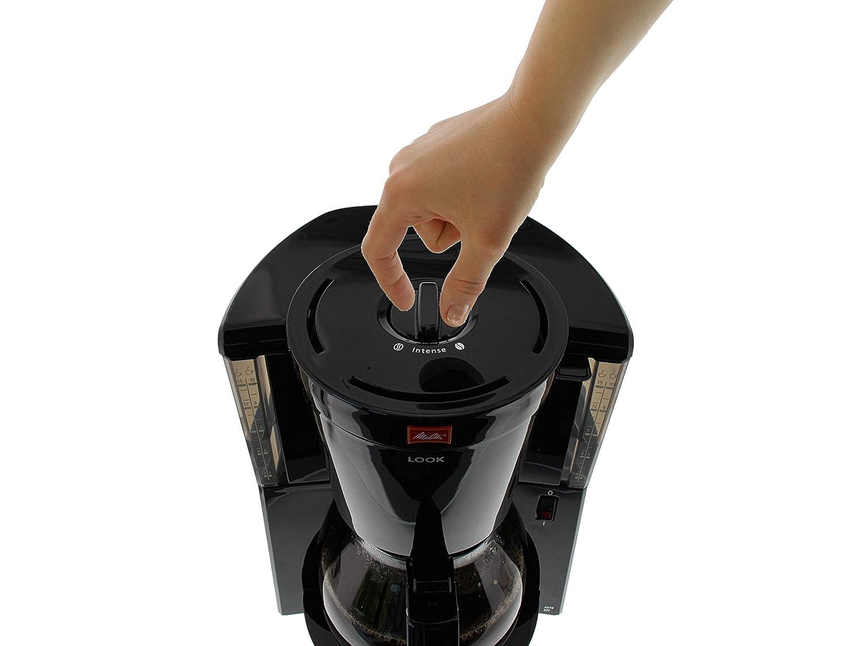 Negro Look Selector de aroma Melitta Cafetera de filtro con jarra de vidrio 1011-02