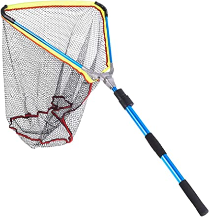 Telescopic Fishing Landing Net Big Hand Cast Folding Pole Network Trap Large New