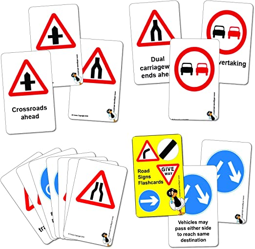 Wildgoose Education Road Sign Flashcards Warning And Regulatory Set Amazon Co Uk Business Industry Science