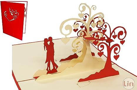 Lin Biglietto Pop Up 3d Per Matrimonio Invito Di Nozze San