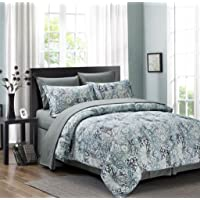 Medallion 6-Piece Bed in a Bag Set Grey (Twin)