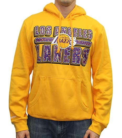 promo code 4f6a9 266d1 Mitchell   Ness Men s Los Angeles Lakers Hoodie Large Yellow