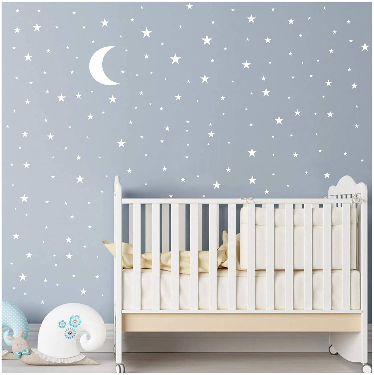 Amazon.com: Moon and Stars Wall Decal Vinyl Sticker for Kids Boy