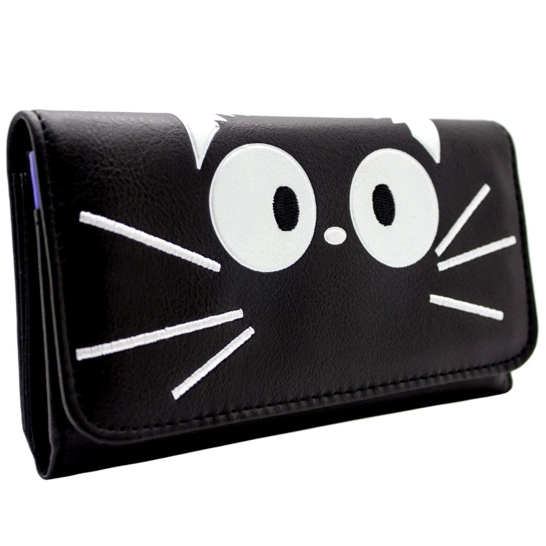 Studio Ghibli Jiji Cat cucito Nero portafoglio 27091