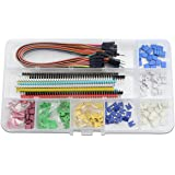 WGCD 2.54mm Breakaway PCB Board 40 Pin Male and Female Pin Header, 2.54mm Circuit Board Jumper Caps, Multicolored Dupont Jumper Wire Assortment Kit for Arduino DIY