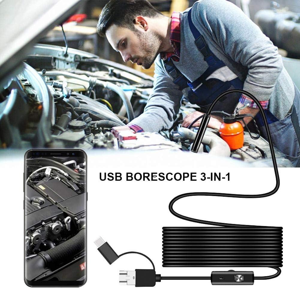 drahtlose Inspektionskamera WiFi-Endoskop knowledgi Endoskop-Inspektionskamera 1200P USB-Endoskop Wasserdicht IP67