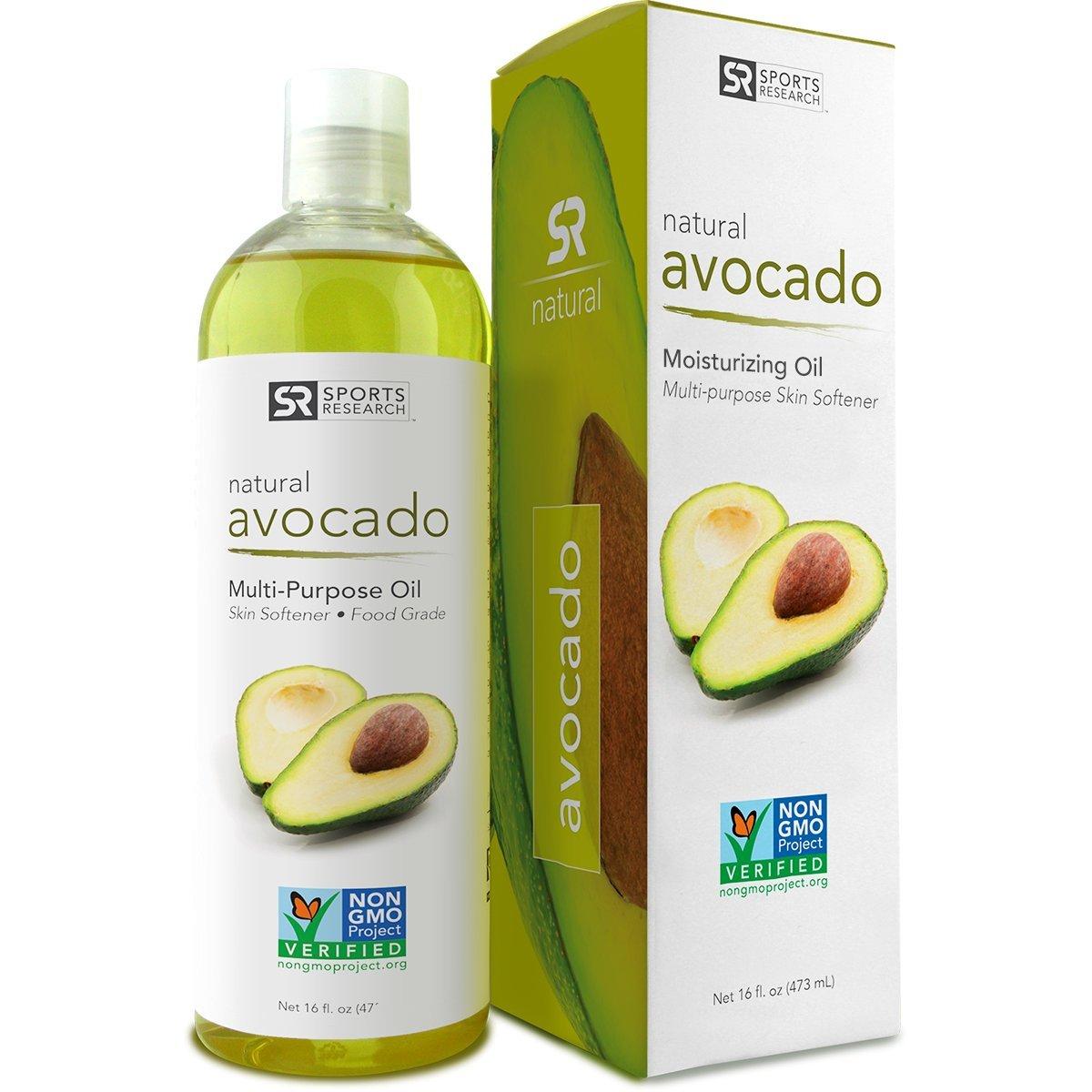 Pure Avocado Oil (16oz). 100% Natural, Food Grade and Non-GMO Verified. UV Resistant BPA free bottle - 100% Satisfaction Guarantee