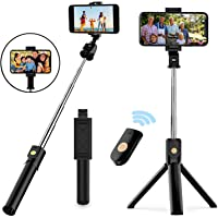 Selfie Stick Tripod, Extendable Bluetooth Selfie Stick with Wireless Remote, Compatible with iPhone 11/11 pro/X/8/8P/7…