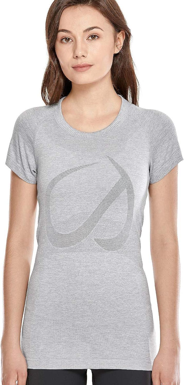 CRZ YOGA - Camiseta de Manga Corta Ropa de Deportiva Fitness tee para Mujer