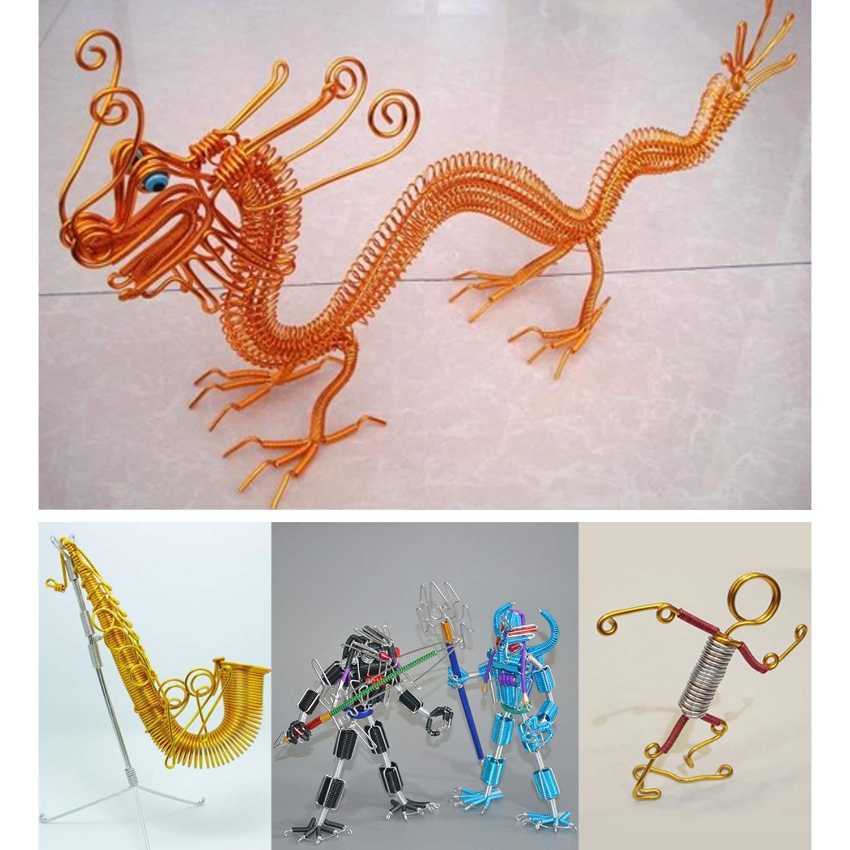 12 Rollen DIY Skulptur und Handwerk 1 mm Durchmesser je Rolle 10 Meter L/änge MengH-SHOP Aluminium Draht Alu-Draht Flexibles Metall Basteldraht f/ür Schmuck Basteln