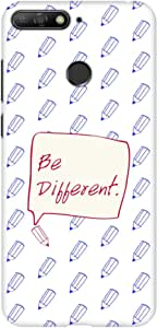 Stylizedd Huawei Y6 Prime (2018) Slim Snap Basic Case Cover Matte Finish - Be Different