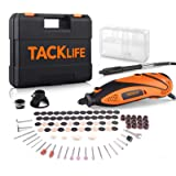 TACKLIFE Rotary Tool Kit with MultiPro Keyless Chuck and Flex Shaft, Versatile Accessories and 4 Attachments and Carrying Cas