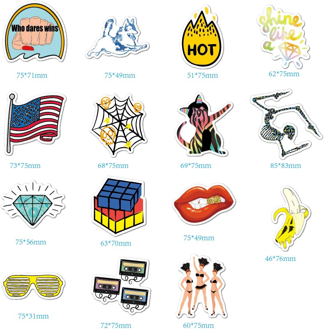 Water Bottle American Stickers Laptop Stickers Pack 30 Pcs American Style Decals for Water Bottle Laptops Ipad Cars Luggages